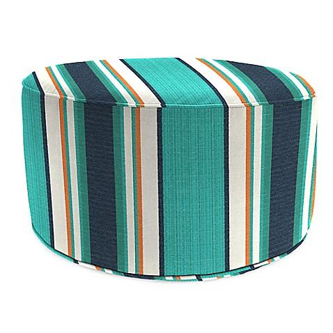 Buy outdoor round pouf ottoman in sunbrella token for Ulani outdoor round pouf ottoman