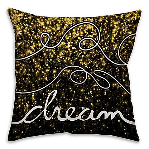 Black Sparkle Throw Pillow : Sparkle