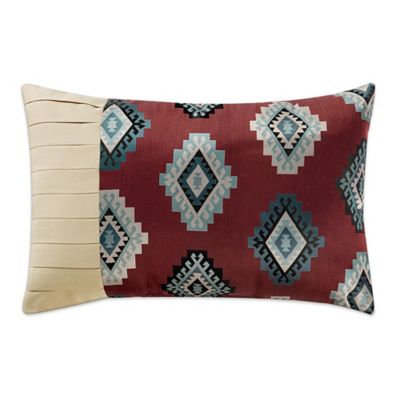 Remington Lodge Cabot Diamond Pleat Oblong Throw Pillow in Red - Bed Bath & Beyond