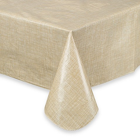 Buy Monterey 52 Inch X 52 Inch Vinyl Tablecloth In Natural