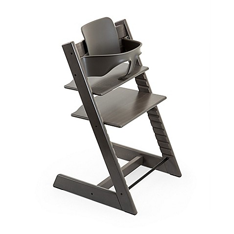 stokke tripp trapp high chair in hazy grey stokke tripp trapp baby set in hazy grey from. Black Bedroom Furniture Sets. Home Design Ideas