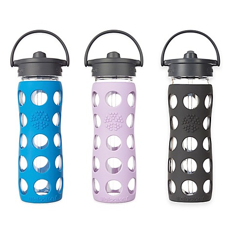Lifefactory 174 Glass Water Bottle With Straw Cap Bed Bath