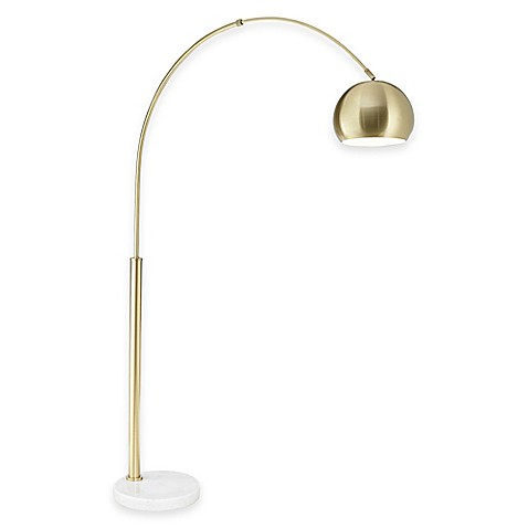 Pacific Coast® Lighting Basque Floor Arc Lamp in Gold With Metal Shade at Bed Bath & Beyond in Cypress, TX | Tuggl