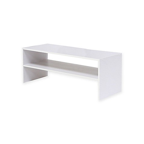Stackable 24 Inch Horizontal 2 Shelf Organizer In White by Bed Bath And Beyond