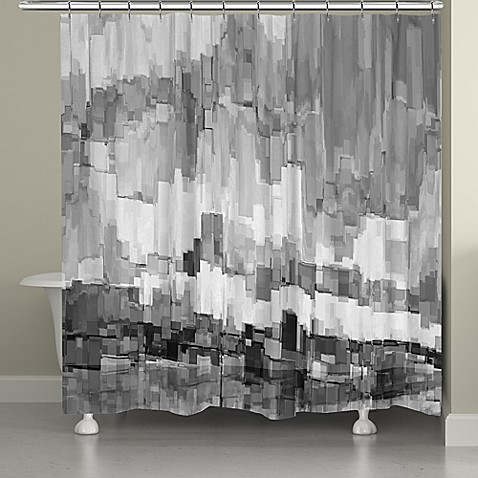Laural Home 174 Grey Glacier Shower Curtain Bed Bath Amp Beyond