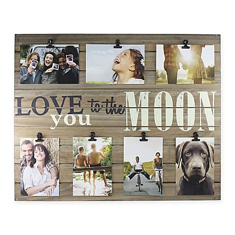 "Piney 7-Photo ""Love You to The Moon"" Wooden Collage Plank at Bed Bath & Beyond in Cypress, TX 