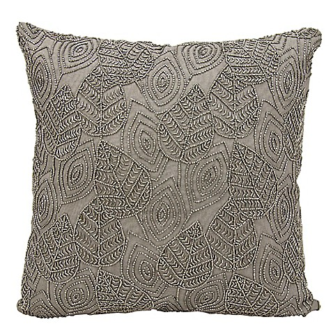 Michael Amini Leaves Square Throw Pillow - Bed Bath & Beyond