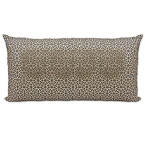 Buy Mina Victory Couture Arabic Rectangular Throw Pillow in Gold from Bed Bath & Beyond
