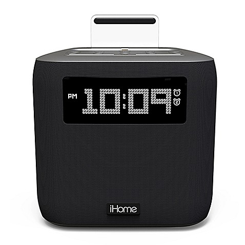 ihome ipl24 dual alarm fm clock radio with lightning connector bed bath beyond. Black Bedroom Furniture Sets. Home Design Ideas