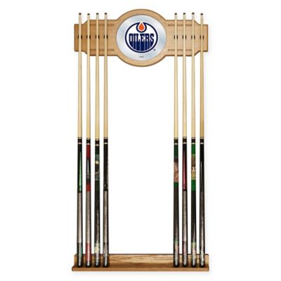 NHL Edmonton Oilers Cue Rack with Mirror