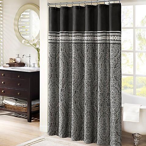 Madison park barton 72 inch x 72 inch jacquard shower - Madison park bathroom accessories ...