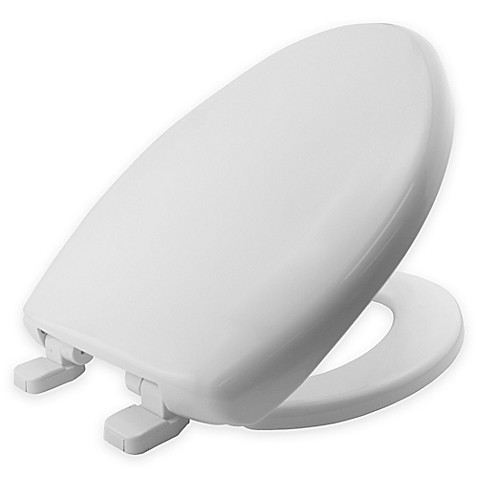 Buy Mayfair Elongated Plastic Toilet Seat In White With Whisper Close From