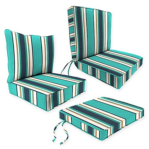 Outdoor Seat Cushion Collection in Sunbrella® Token Surfside at Bed Bath & Beyond in Cypress, TX | Tuggl