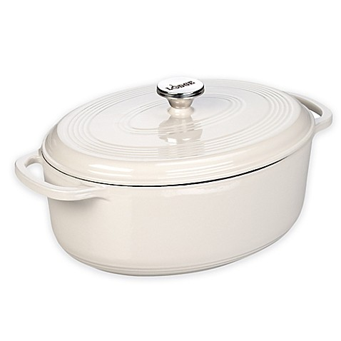 Buy Lodge 7 Qt Enameled Cast Iron Oval Dutch Oven In