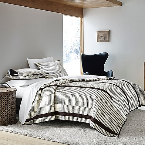 Ed Ellen De Generes Dots And Dashes Quilt In Beige by Bed Bath And Beyond