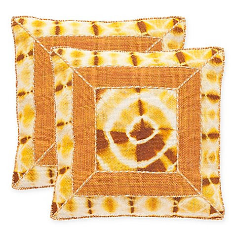 24 Square Throw Pillows : Safavieh Dip-Dye Patch 24-Inch Square Throw Pillows (Set of 2) - Bed Bath & Beyond