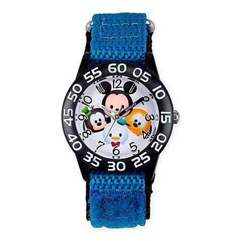 Disney tsum tsum children 39 s mickey friends time teacher watch in black plastic w nylon strap for Tsum tsum watch