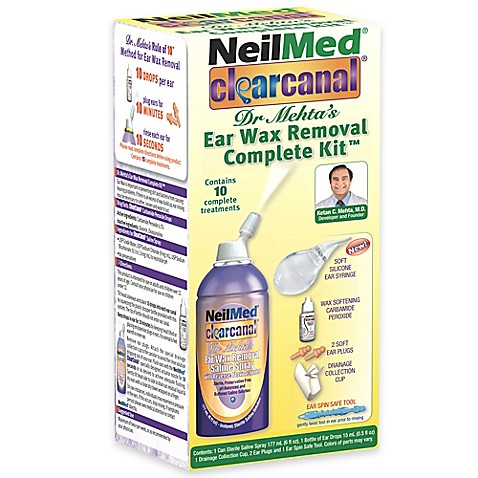 NeilMed® Clearcanal™ Dr. Mehta's Ear Wax Removal Complete ... Ear Wax Removal Kit