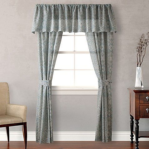 laura ashley ardleigh window valance in light blue bed. Black Bedroom Furniture Sets. Home Design Ideas