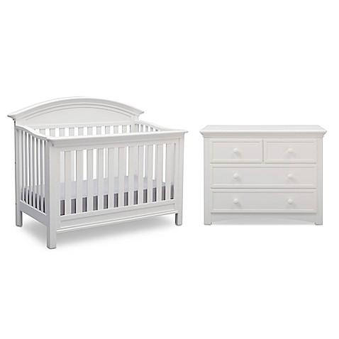 Serta 174 Aberdeen Nursery Furniture Collection In Bianca