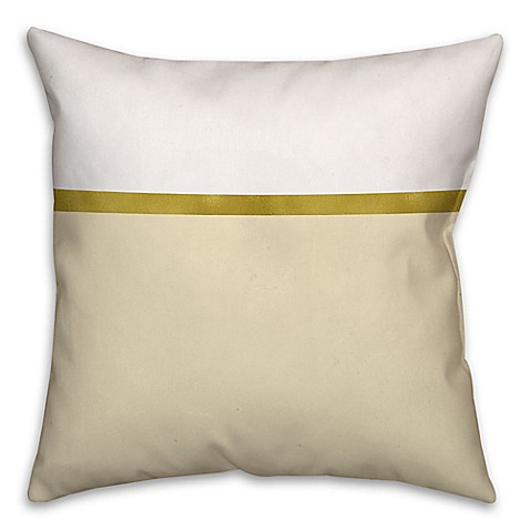 White Cream Throw Pillows : Buy Horizontal Stripe Color Block Square Throw Pillow in Cream/White from Bed Bath & Beyond