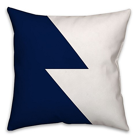 Throw Pillows Navy And White : Color Block Throw Pillow in Navy/White - Bed Bath & Beyond