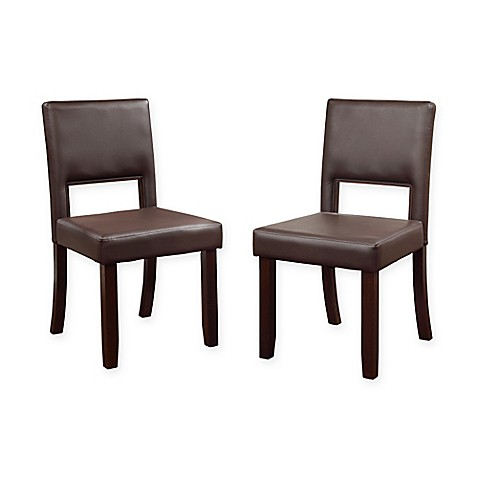 Buy Linon Home Vega Dining Chairs In Espresso Set Of 2 From Bed Bath Beyond