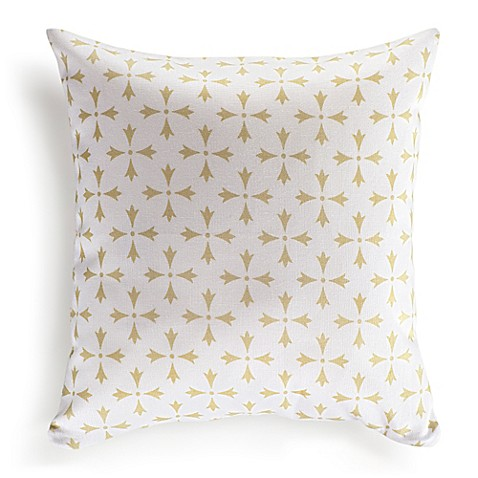 Throw Pillow Covers Bed Bath Beyond : Nine Space Rhodes 16-Inch Square Throw Pillow Cover - Bed Bath & Beyond