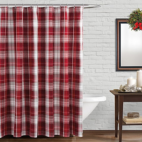 Winter Retreat Shower Curtain In Red Bed Bath Amp Beyond
