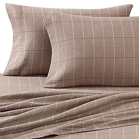 buy luxury portuguese flannel queen sheet set in brown