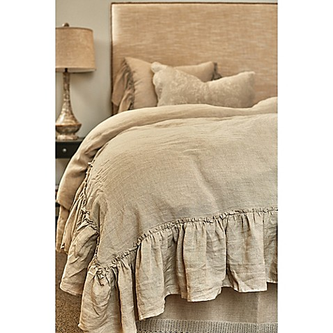 Buy Amity Home Karina Ruffled Linen King Duvet Cover In