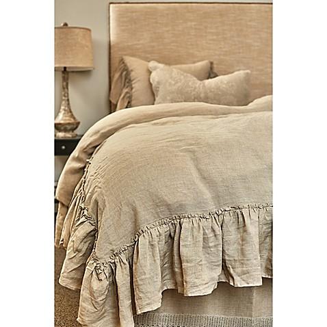 Buy Amity Home Karina Ruffled Linen King Duvet Cover In