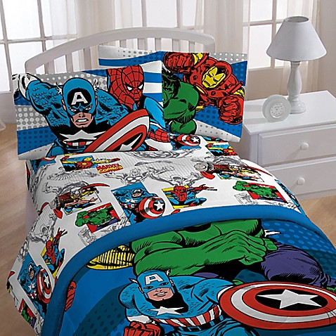 Marvel 174 Comics Quot Good Guys Quot Sheet Set Bed Bath Amp Beyond