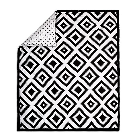 The Peanut Shell 174 Tile Quilt In Black White Buybuy Baby