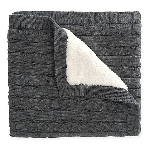 Buy Elegant Baby 174 Cable Knit Blanket With Faux Fur Backing