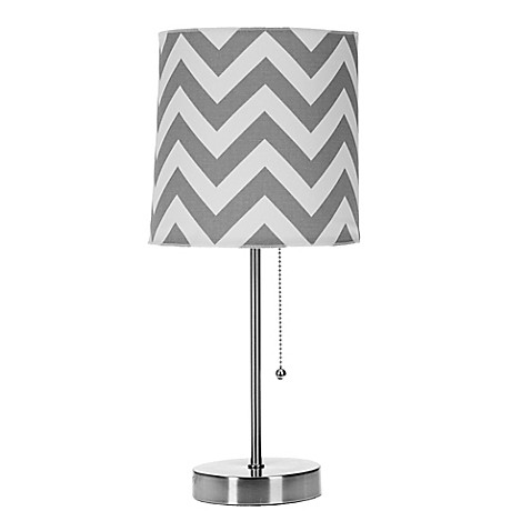 Glenna Jean Swizzle Chevron Mod Lamp Base With Shade In