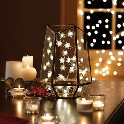 String Lights In Bathroom : 10-Foot Snowflake LED String Light - Bed Bath & Beyond