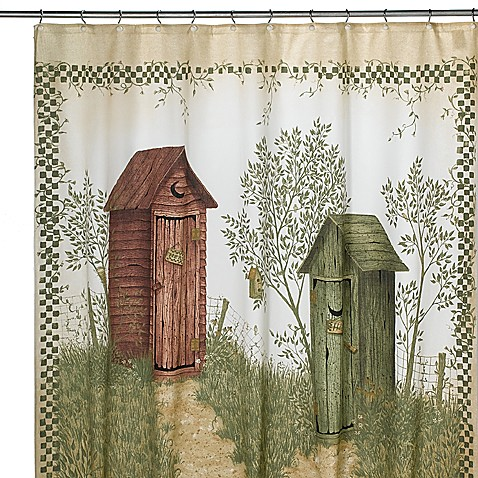 avanti outhouses shower curtain bed bath beyond. Black Bedroom Furniture Sets. Home Design Ideas
