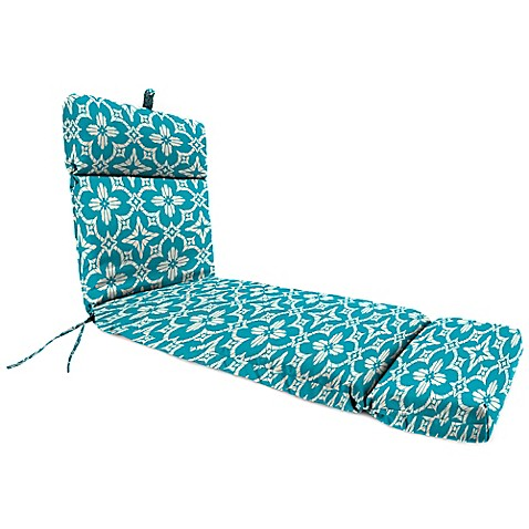 Buy outdoor chaise lounge cushion in aspidora turquoise for Buy chaise lounge cushion