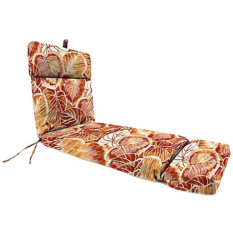 Buy outdoor chaise lounge cushion in keycove cayenne from for Buy chaise lounge cushion