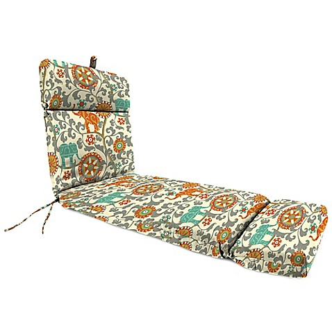 Buy outdoor chaise lounge cushion in menagerie cayenne for Buy outdoor chaise lounge