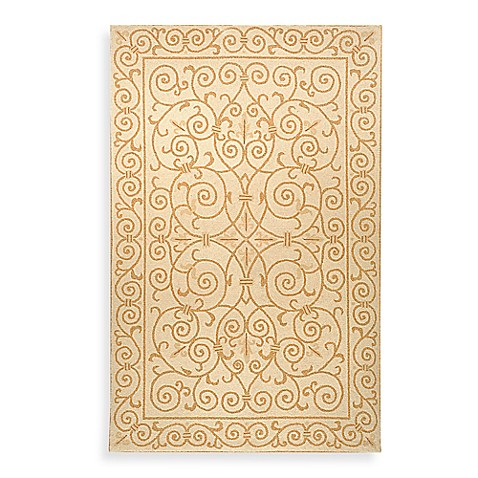 Safavieh Chelsea Ivory And Gold Wool Accent Rugs Bed