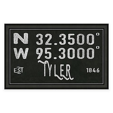 Tyler Texas Coordinates Framed Wall Art Bed Bath Beyond