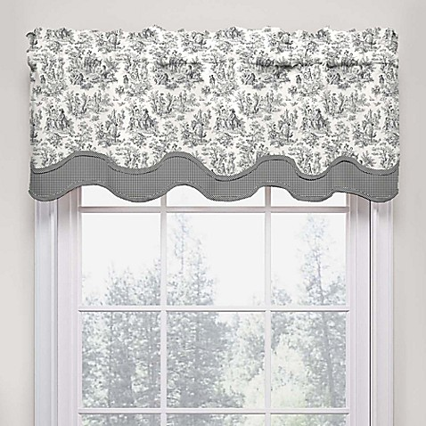 Waverly Charmed Life Scalloped Cotton Valance Bed Bath