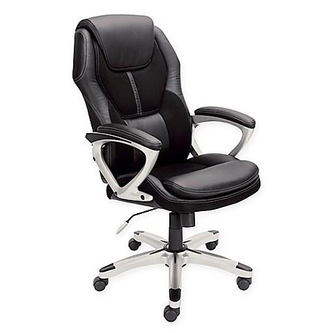 Serta 174 Puresoft 174 Faux Leather Amp Mesh Executive Office