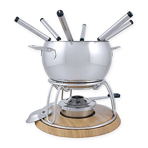 buy swissmar 174 geneva 11 piece stainless steel fondue set