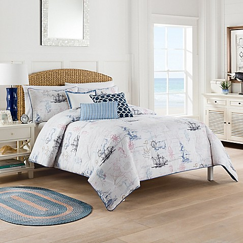 Nautical map comforter set bed bath beyond - Bed bath and beyond bedroom furniture ...