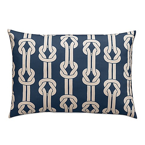 Dockside Rope Tie Oblong Throw Pillow in Navy at Bed Bath & Beyond in Cypress, TX | Tuggl