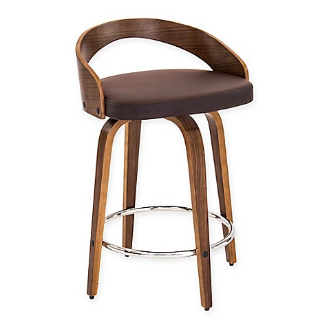 Buy Lumisource Grotto Counter Stool In Brown From Bed Bath