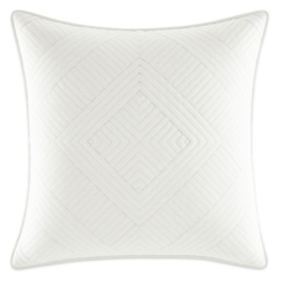 White Quilted Decorative Pillows : Nautica Bluffton Quilted Square Throw Pillow in White - Bed Bath & Beyond